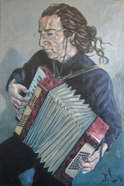 Paul Playing the bloody Accordion